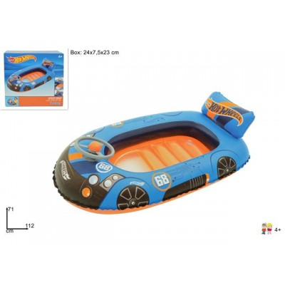 CANOTTINO HOT WHEELS CM 122*25 CON VOLANTE E SCHIENALE ART.93405@
