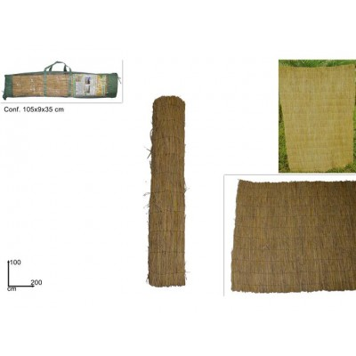 ARELLA IN PAGLIA NATURALE 100CMX200C (RICE STRAW FENCE)@