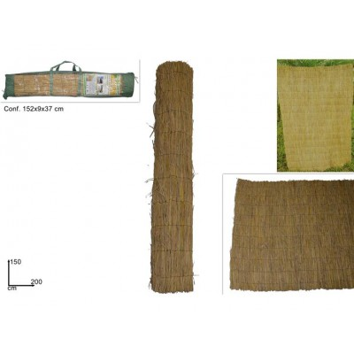 ARELLA IN PAGLIA NATURALE 150CMX200C (RICE STRAW FENCE)@