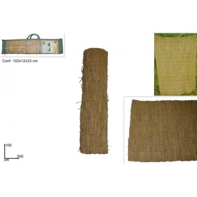 ARELLA IN PAGLIA NATURALE 100CMX300C (RICE STRAW FENCE)@