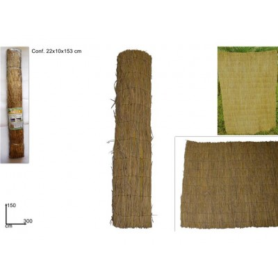 ARELLA IN PAGLIA NATURALE 150CMX300C (RICE STRAW FENCE)@