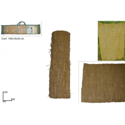 ARELLA IN PAGLIA NATURALE 100CMX500C (RICE STRAW FENCE)@