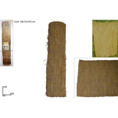 ARELLA IN PAGLIA NATURALE 150CMX500C (RICE STRAW FENCE)@
