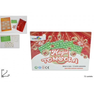 GIOCO TOMBOLA 72 CARTELLE  ART 3010-72ç